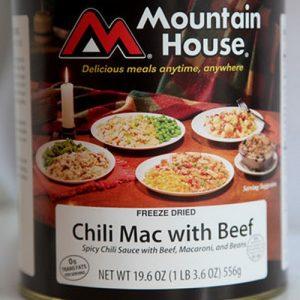 Chili mac w beef can large