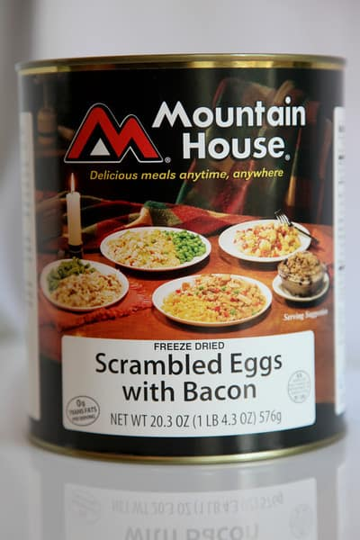 Mountain House Scrambled Eggs with Ham and Peppers, #10 Can