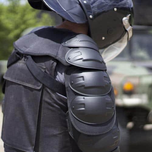 Riot Ready Body Shielding Shoulder Arm And Leg